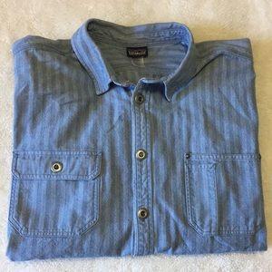 Patagonia men's denim button up shirt